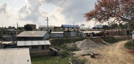 This is the village of Sankhu, near the Ward Office